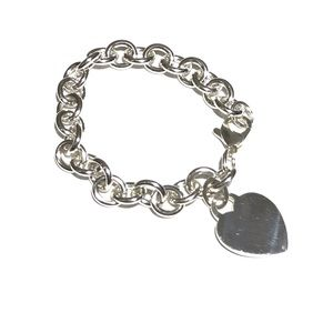 Tiffany heart tag charm bracelet
